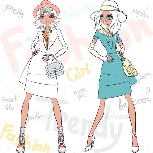 GraphicRiver Fashion Girls 10942577