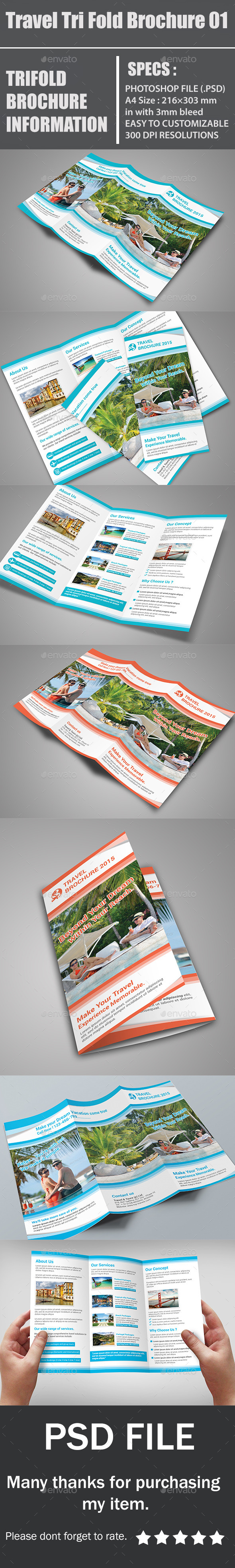 GraphicRiver Travel Tri Fold Brochure 01 10942676
