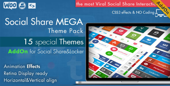 CodeCanyon Social Share Mega Theme Pack WordPress 10936794