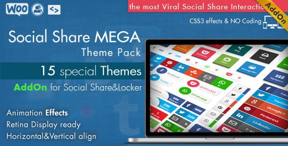 CodeCanyon Social Share Mega Theme Pack WordPress 10936794