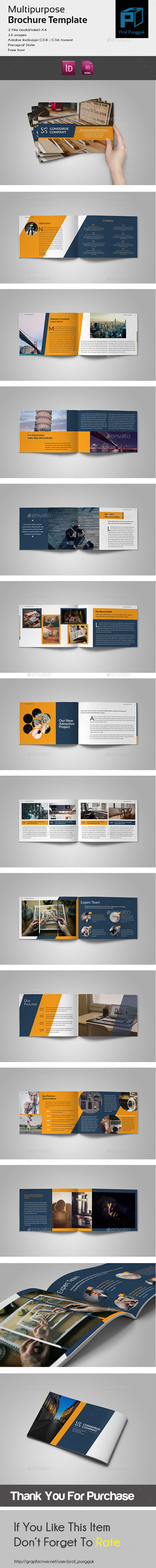 GraphicRiver Multipurpose Brochure A4 Landscape 10865413