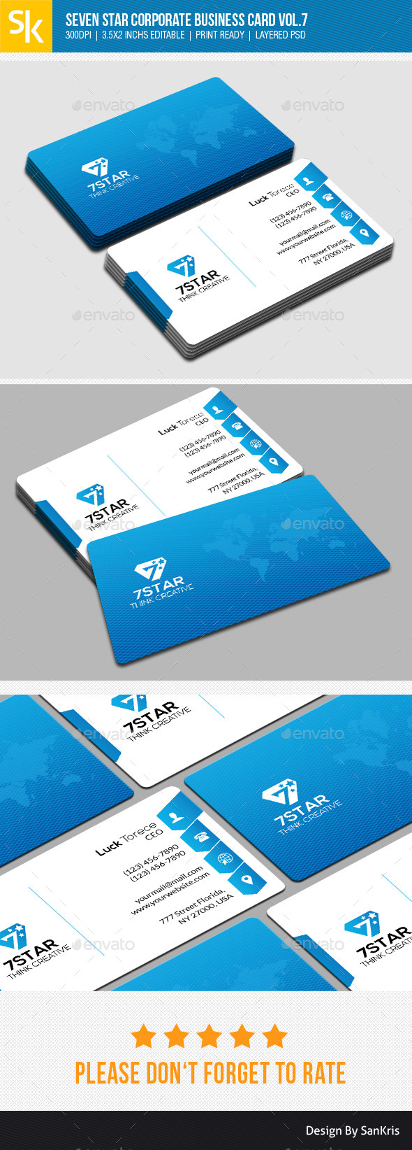 GraphicRiver Seven Star Corporate Business Card Vol.7 10942841
