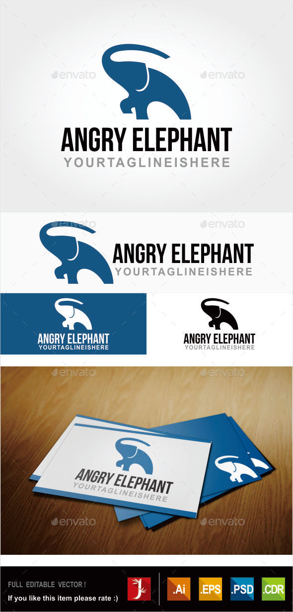 GraphicRiver Elephant Logo 10942892