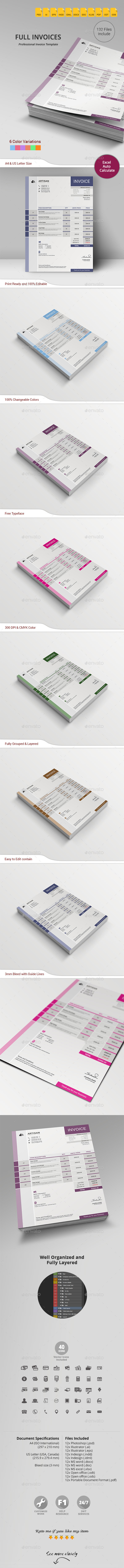GraphicRiver Invoice 10942907