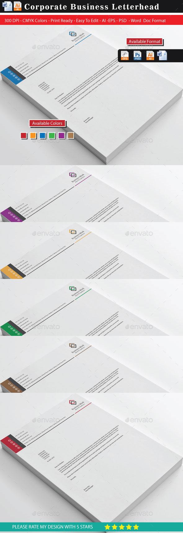 GraphicRiver Business Letterhead 10942912
