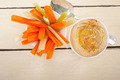 fresh hummus dip with raw carrot and celery - PhotoDune Item for Sale