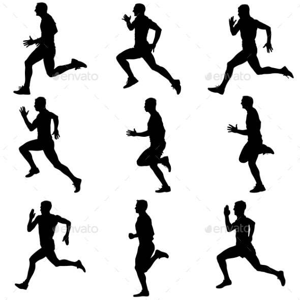 GraphicRiver Running Silhouettes 10942926