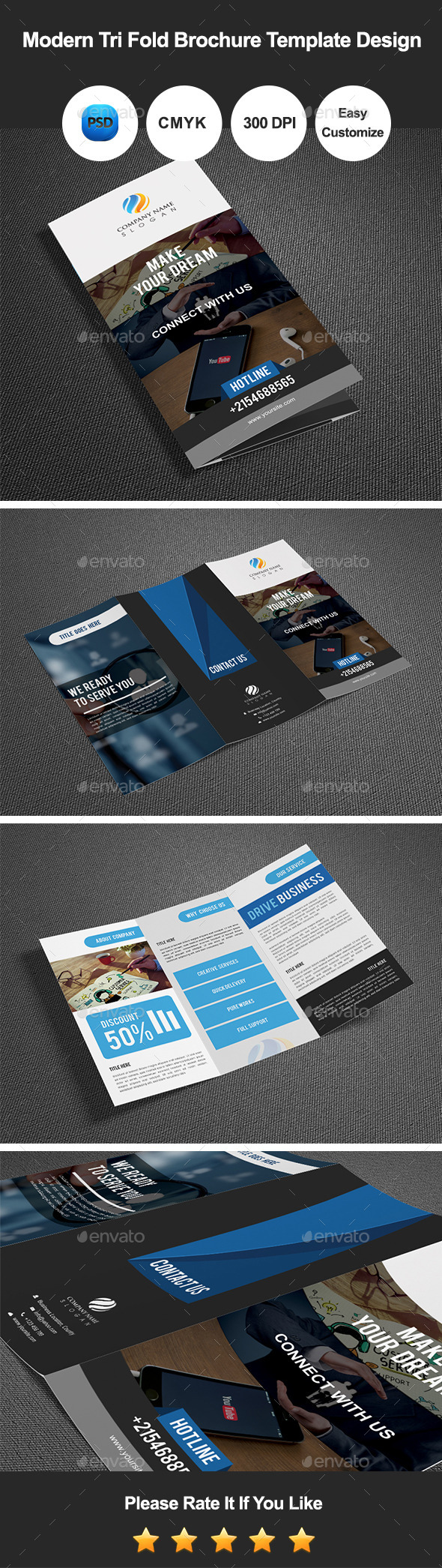 GraphicRiver Modern Tri Fold Brochure Template Design 10942983