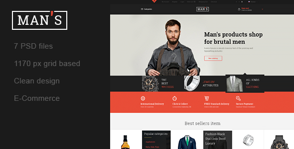 ThemeForest MAN S Template Online-Store for Man 10753613