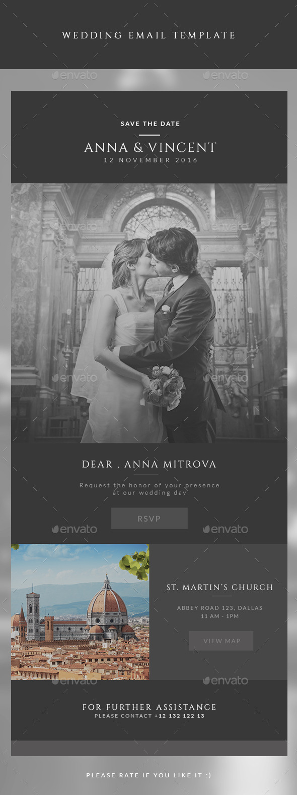 GraphicRiver Wedding Invitation Email Template 10942990