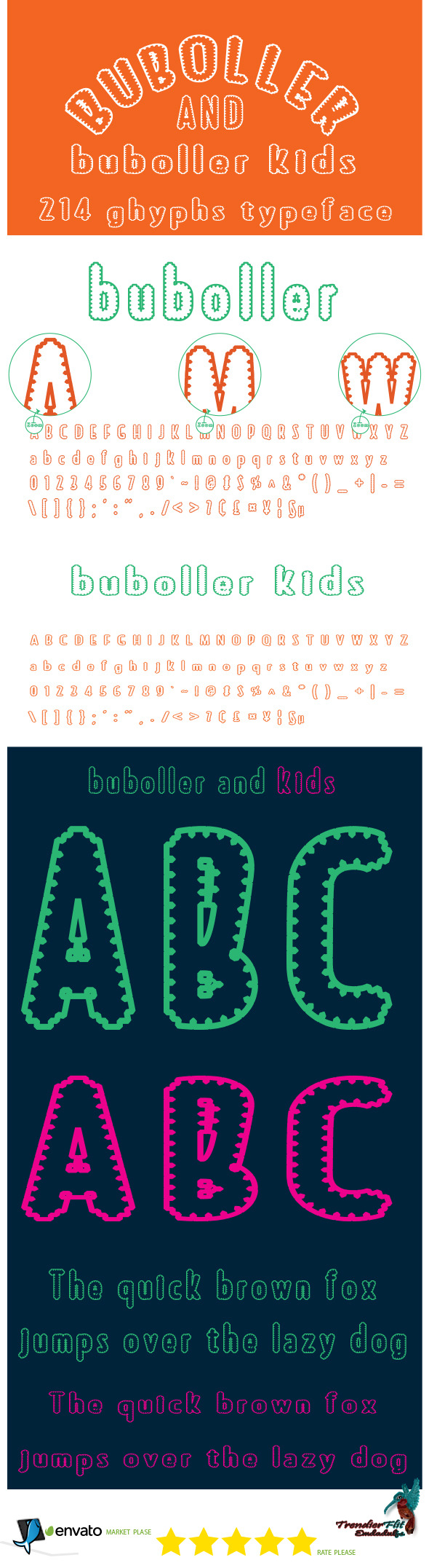 Buboller Font Set