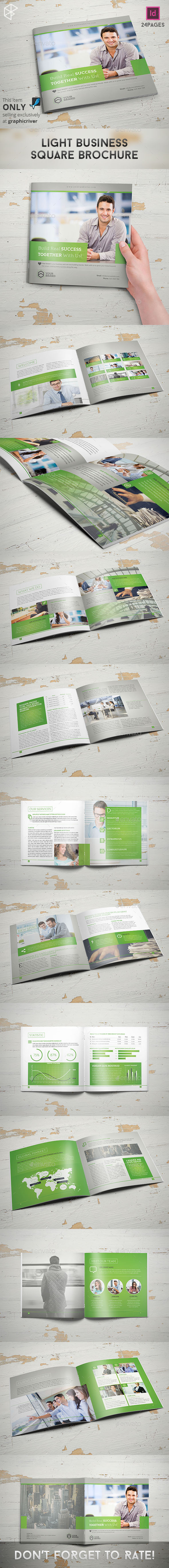 GraphicRiver Light Business Square Brochure 10943045