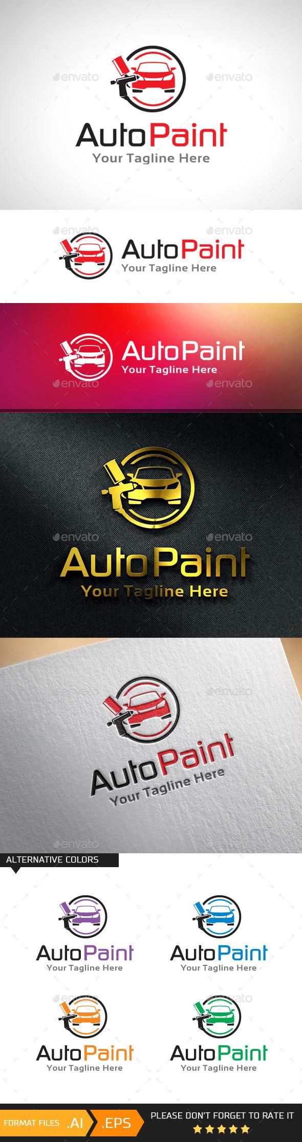 GraphicRiver Car Paint Automotive Paint Logo Template 10943047