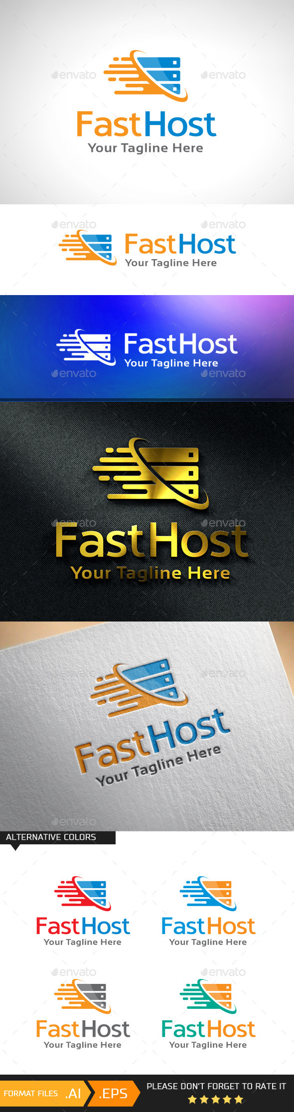GraphicRiver Fast Host Logo Template 10943064