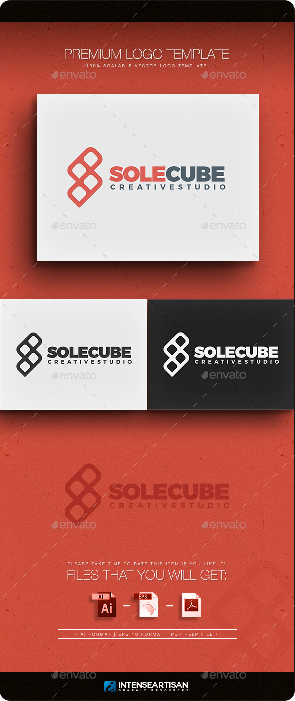 GraphicRiver Solucube Logo Template 10943065