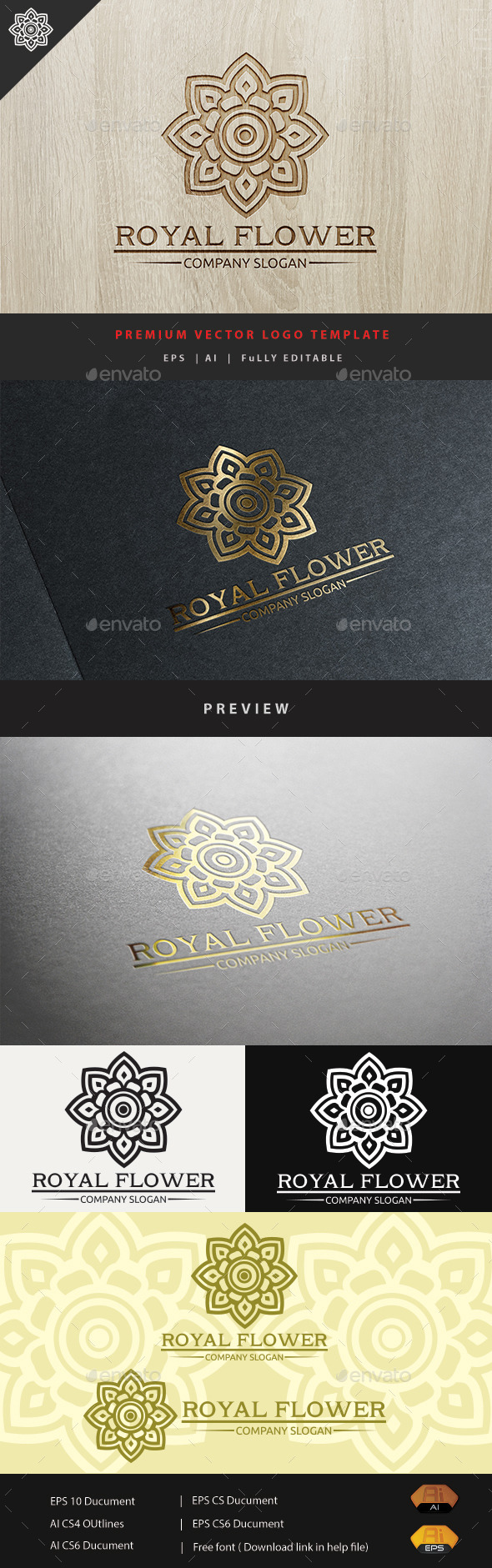 GraphicRiver Royal Flower 10943081