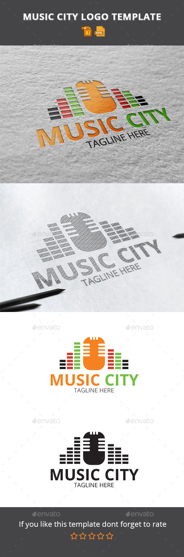 GraphicRiver Music city 10943085