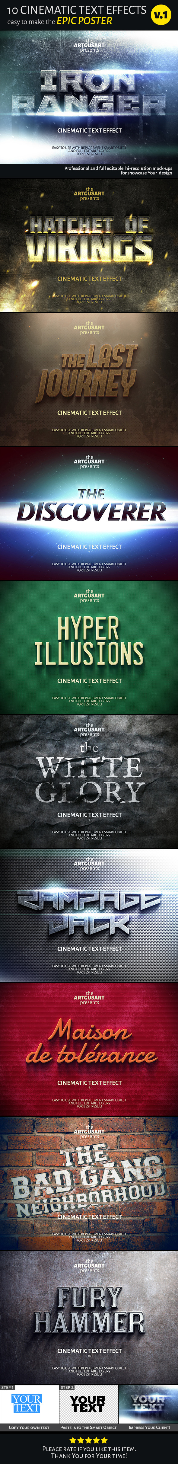 GraphicRiver 10 Cinematic Text Effects v.1 10943112