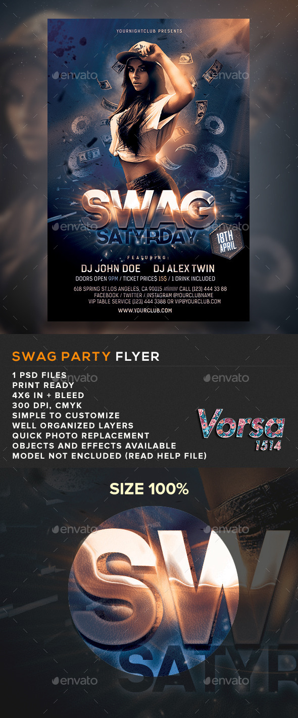 GraphicRiver SWAG Party Flyer 10943121