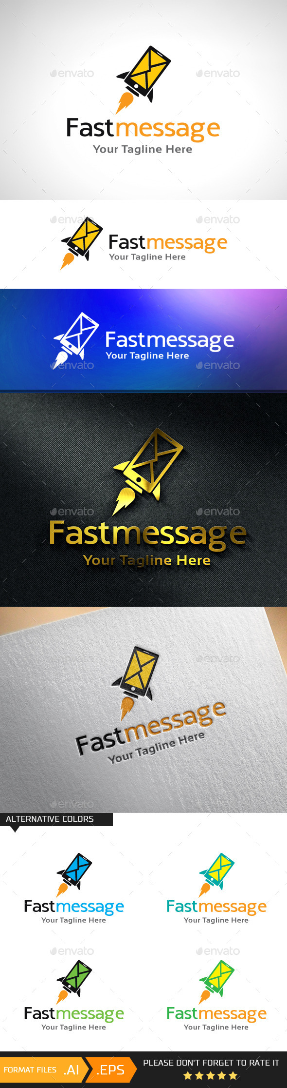 GraphicRiver Fast Message Logo Template 10943155