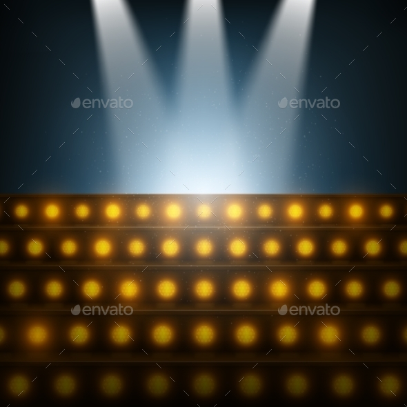 GraphicRiver Stairs with Spotlights to Illuminated Stage 10943287