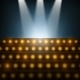 Stairs with Spotlights to Illuminated Stage. - GraphicRiver Item for Sale