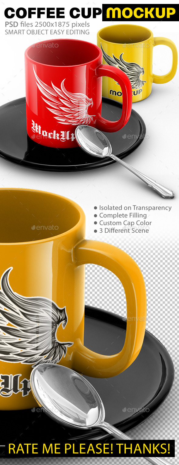 GraphicRiver Cup Mock-Up Colorize Mug 10943358