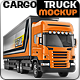 Road train, Trailer Truck mock-up - GraphicRiver Item for Sale
