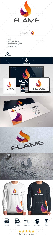 GraphicRiver Flame Logo 10943562