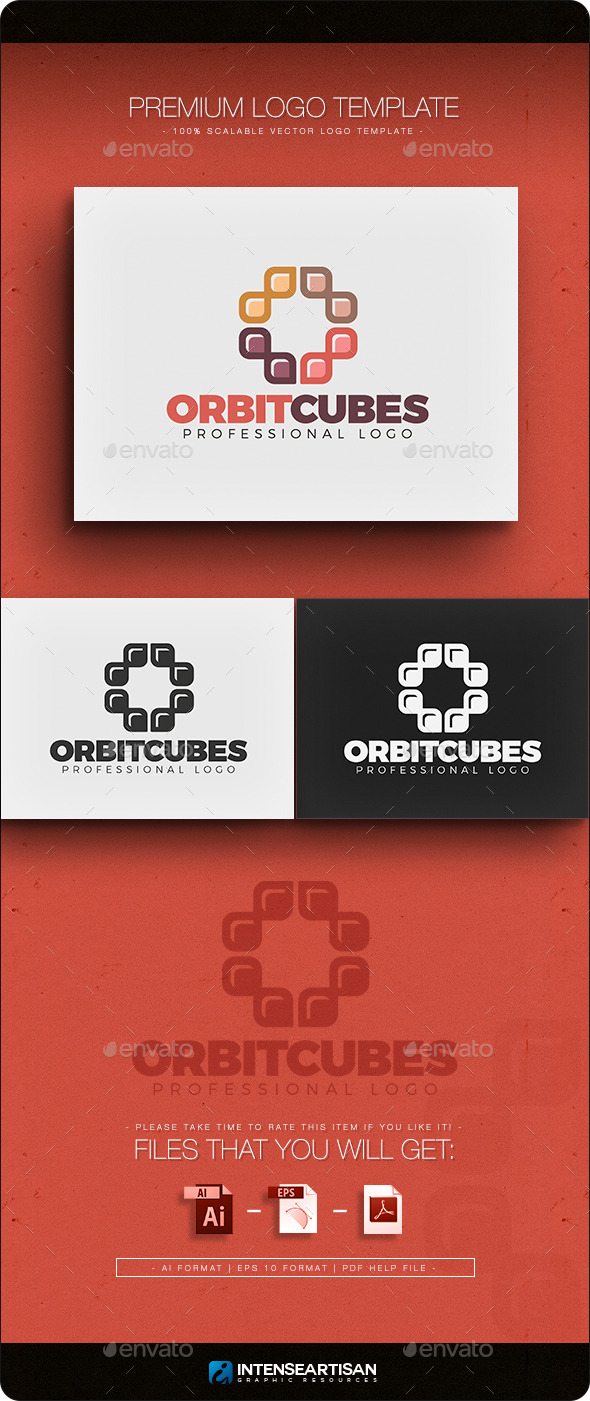 GraphicRiver Orbit Cubes Logo Template 10943576