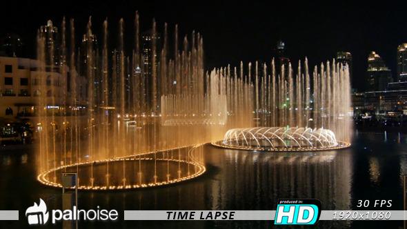Dubai Water Fountain Show Fast