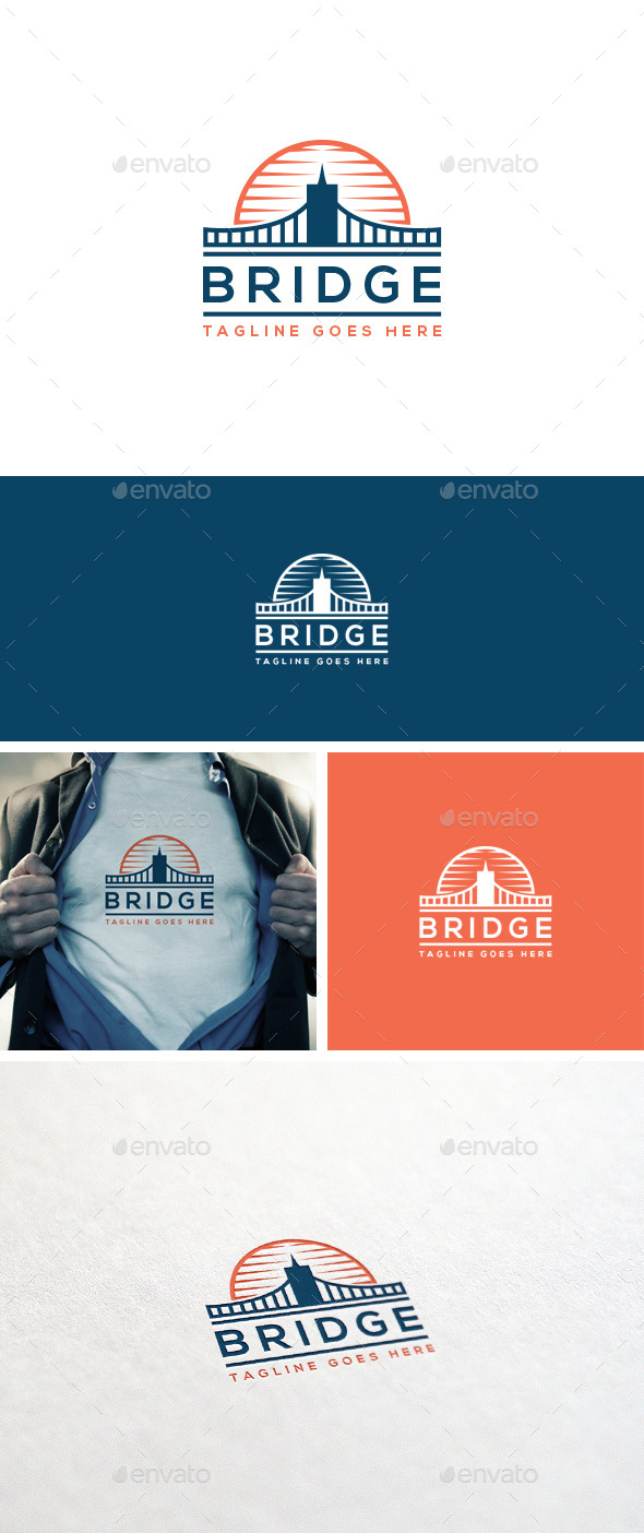 GraphicRiver Bridge Logo Template 10943610