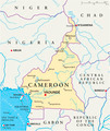 Cameroon Political Map - PhotoDune Item for Sale