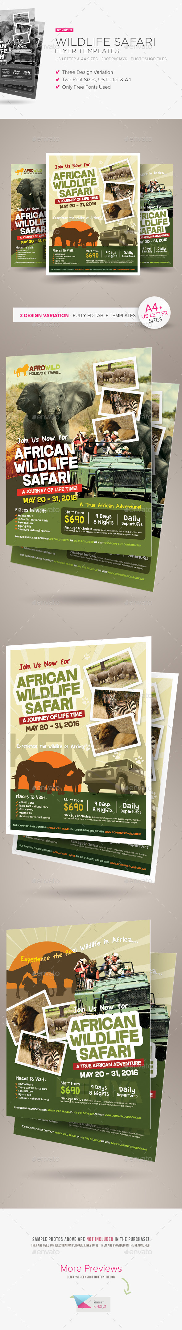 GraphicRiver Wildlife Safari Flyer Templates 10943635