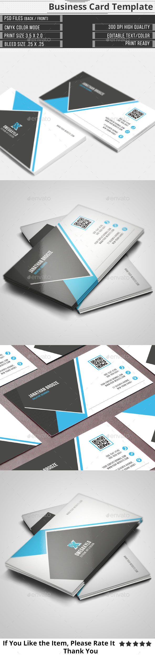 GraphicRiver Corporate Business Card 10943717