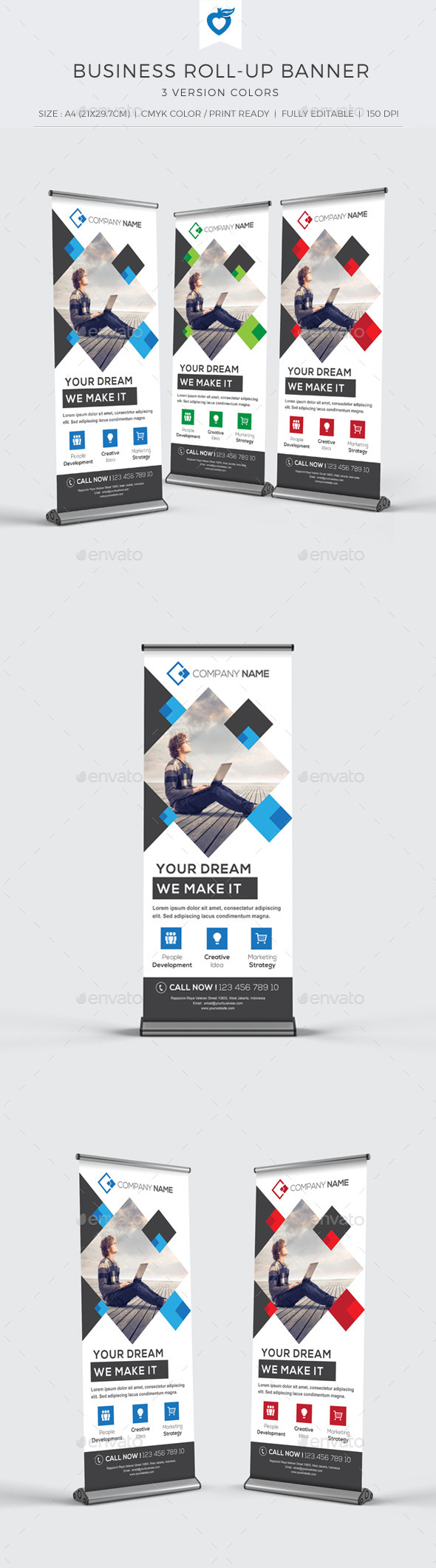 GraphicRiver Business Roll-up Banner 10943745