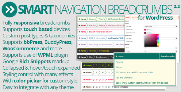 Smart Navigation Breadcrumbs - CodeCanyon Item for Sale