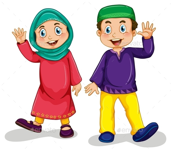 GraphicRiver Muslim Boy and Girl 10943869