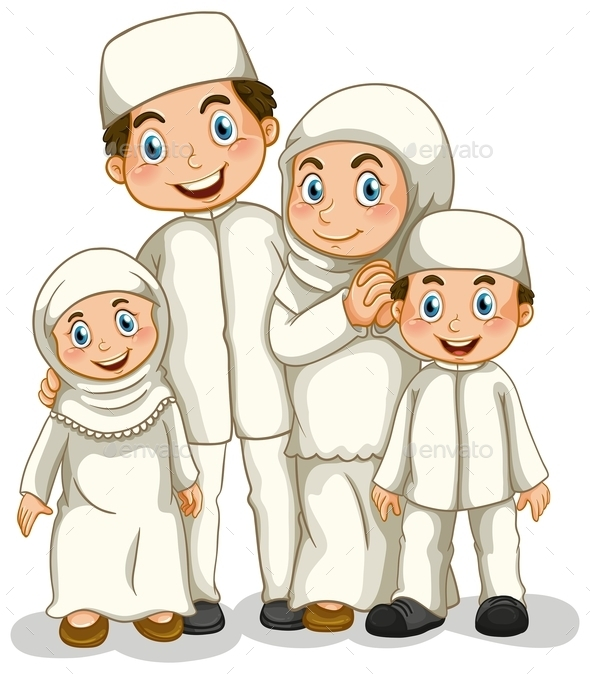 GraphicRiver Muslim Family 10943897