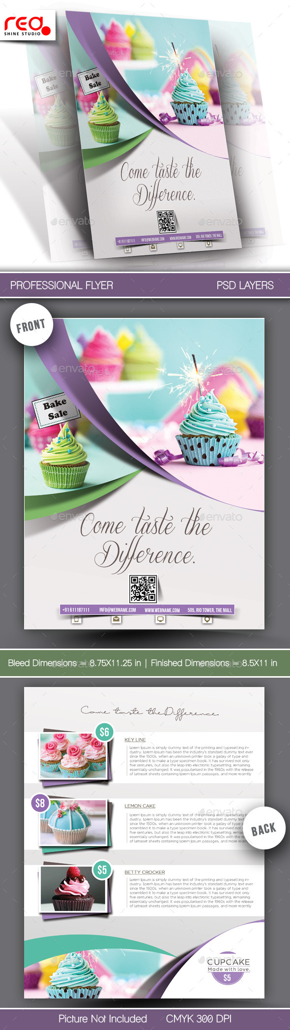 GraphicRiver Cupcake Flyer Template 10944044