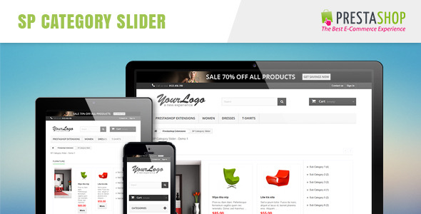 CodeCanyon SP Category Slider Responsive Prestashop Module 10944174