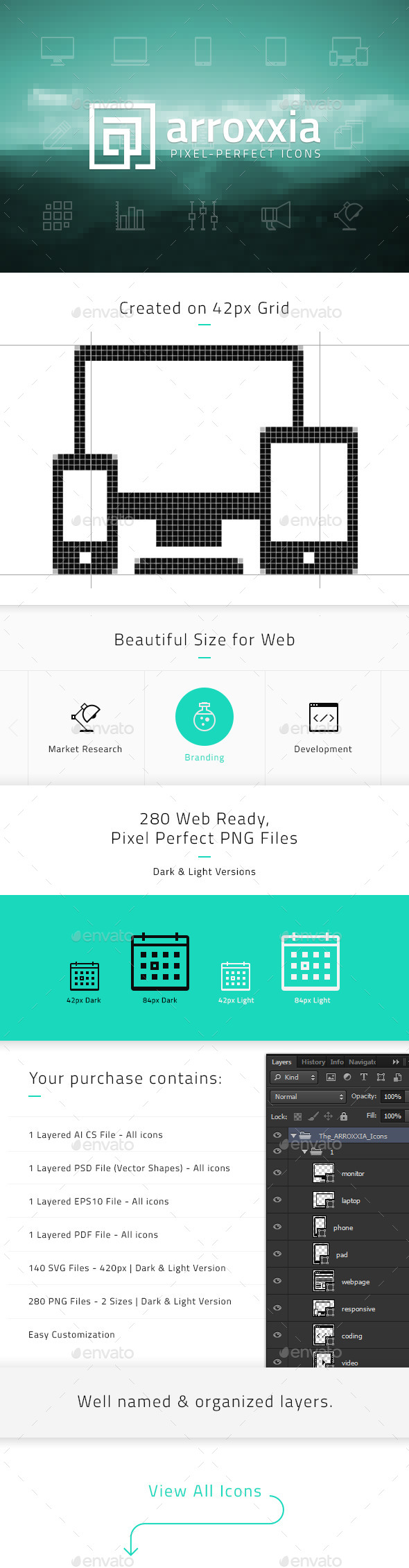 GraphicRiver Arroxxia Pixel Perfect Icons 10929233