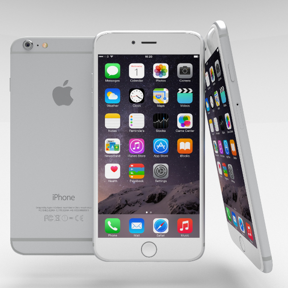 3DOcean iPhone 6 Plus Silver 10944334