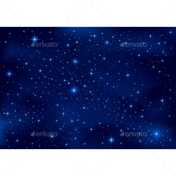 GraphicRiver Night Sky 10944390