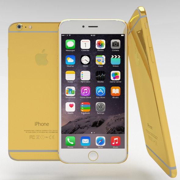 3DOcean iPhone 6 Plus Gold Plated 10944398