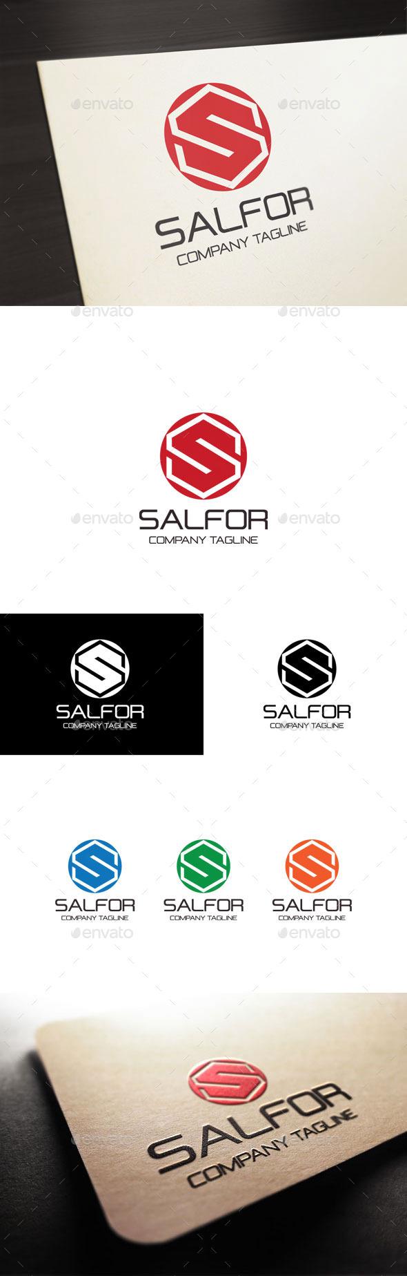 GraphicRiver Salfor Letter S Logo 10944563