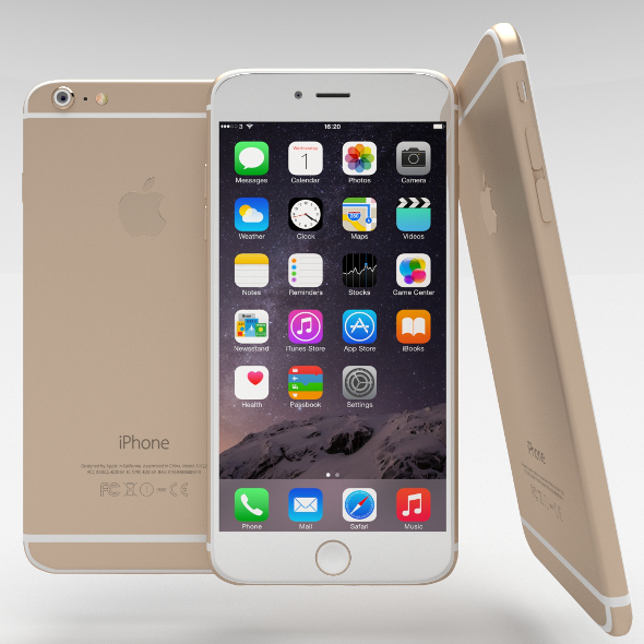3DOcean iPhone 6 Plus Gold 10944926