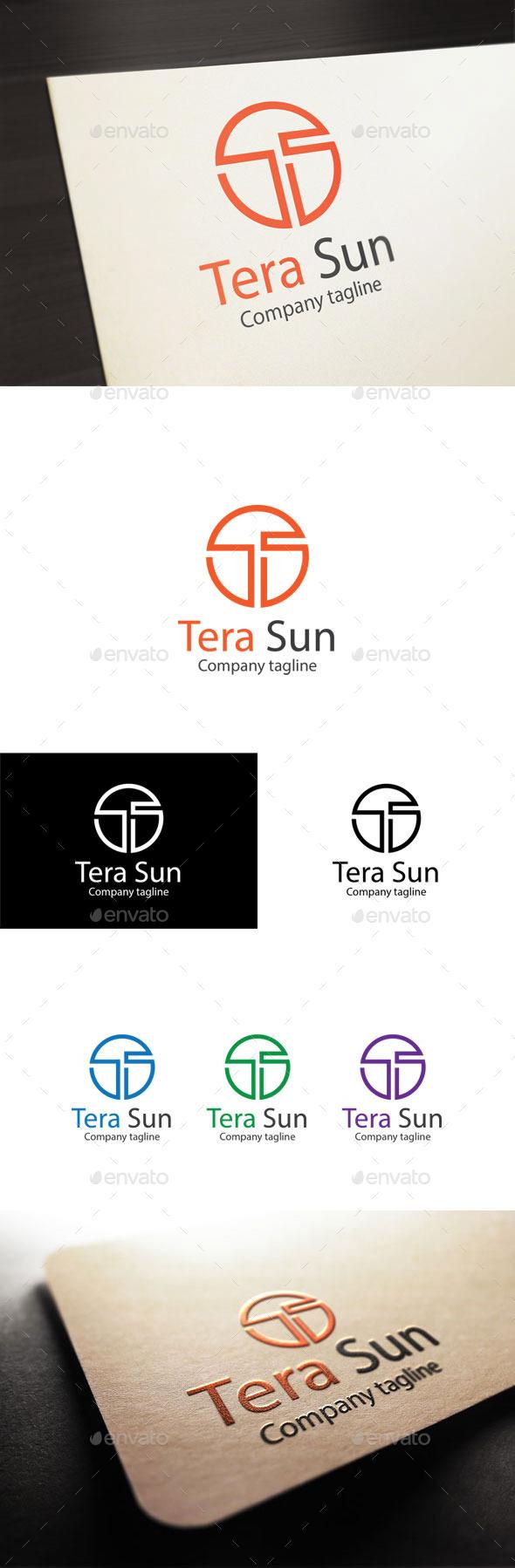GraphicRiver Tera Sun Letter T & S Logo 10944923