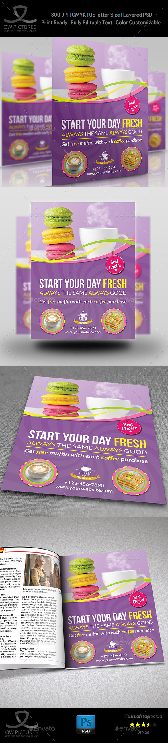 GraphicRiver Cafe Restaurant Flyer Template Vol.4 10944936