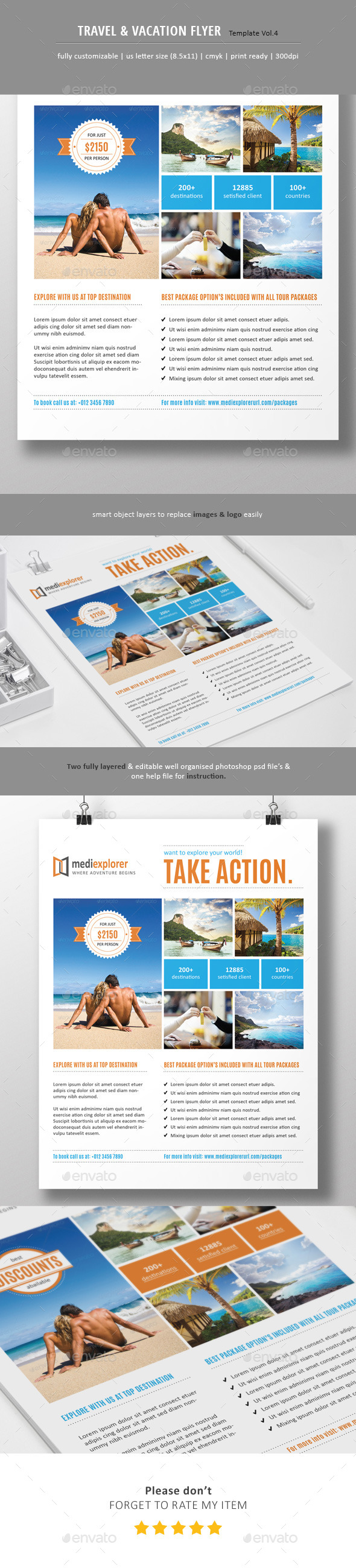 GraphicRiver Travel & Vacation Flyer Ads Vol.4 10945010